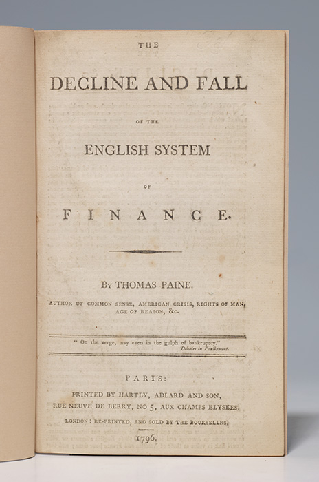Decline and Fall of the English System of Finance