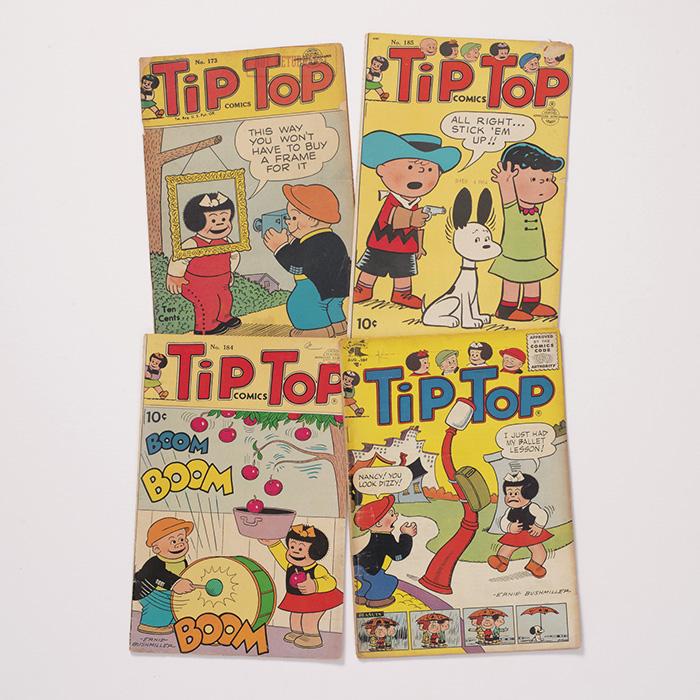 Tip Top Comics Nos. 173, 184, 185, and 190. [Peanuts]