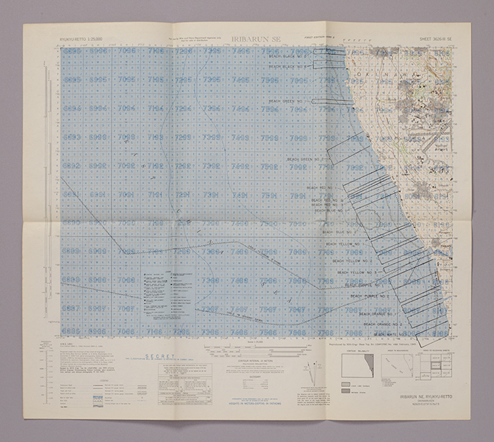 Pre-battle map of Okinawa Island