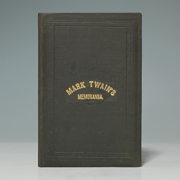Mark Twain's Memoranda. From the Galaxy
