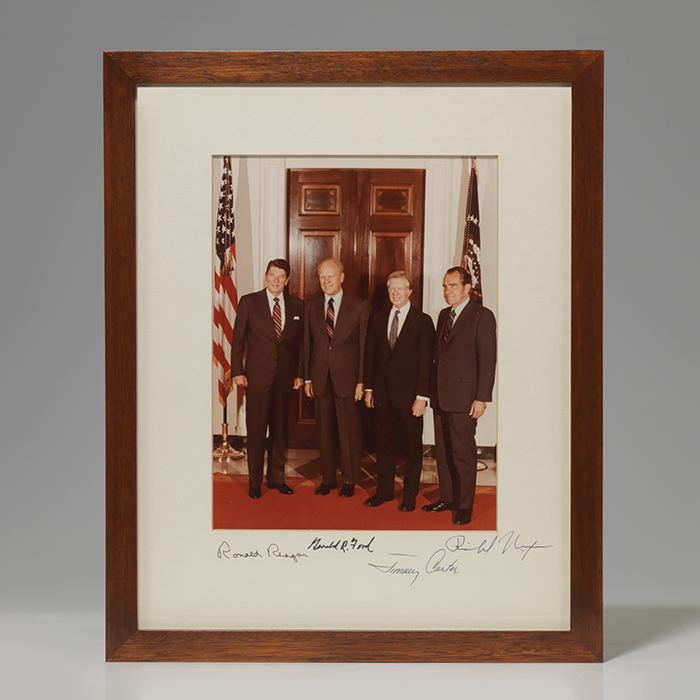 Photograph signed by 4 presidents