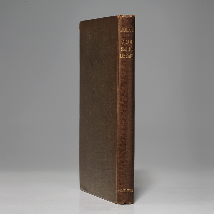 Catalogue of the Library of Adam Smith