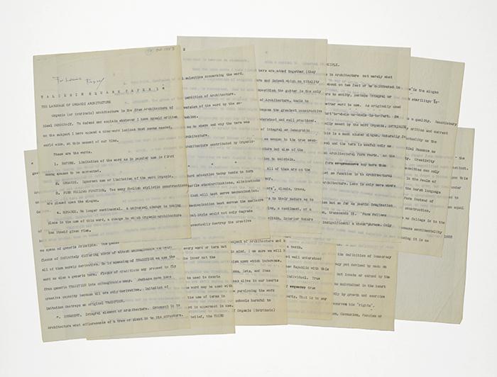 Typed manuscript inscribed