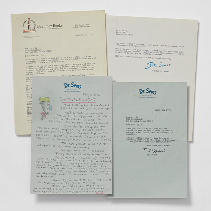 Archive of three signed letters