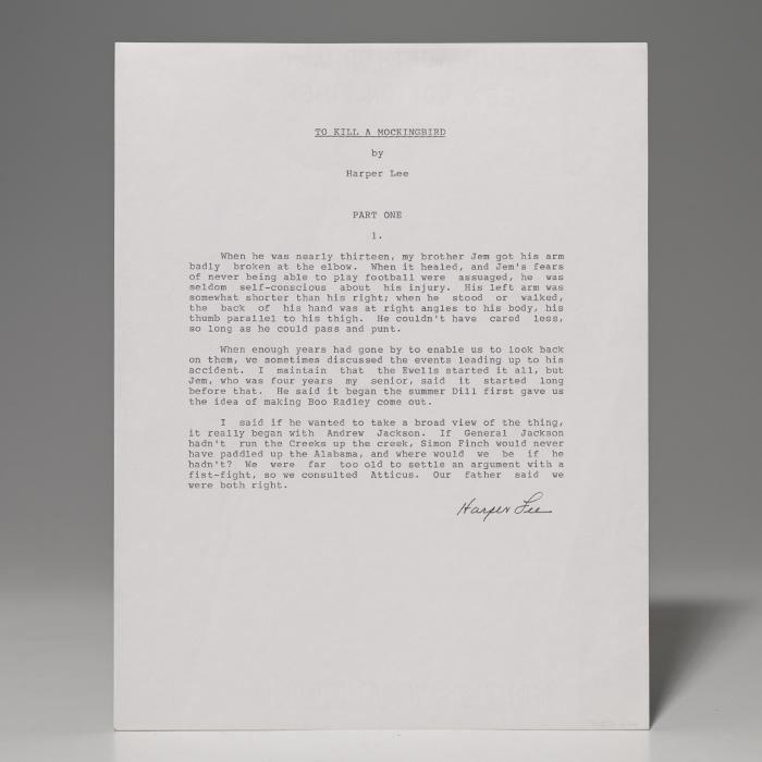 Souvenir typescript signed