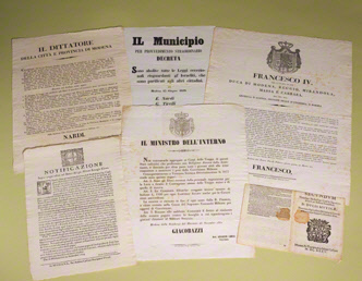 Collection of seven decrees relating to the Jews of Modena, Italy