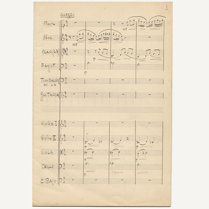 Concierto del Sur manuscript