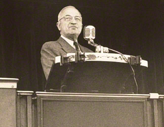 Original photograph of Harry Truman at St. Louis Whistle-Stop