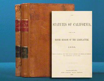 Statutes of California. WITH: Leyes de California