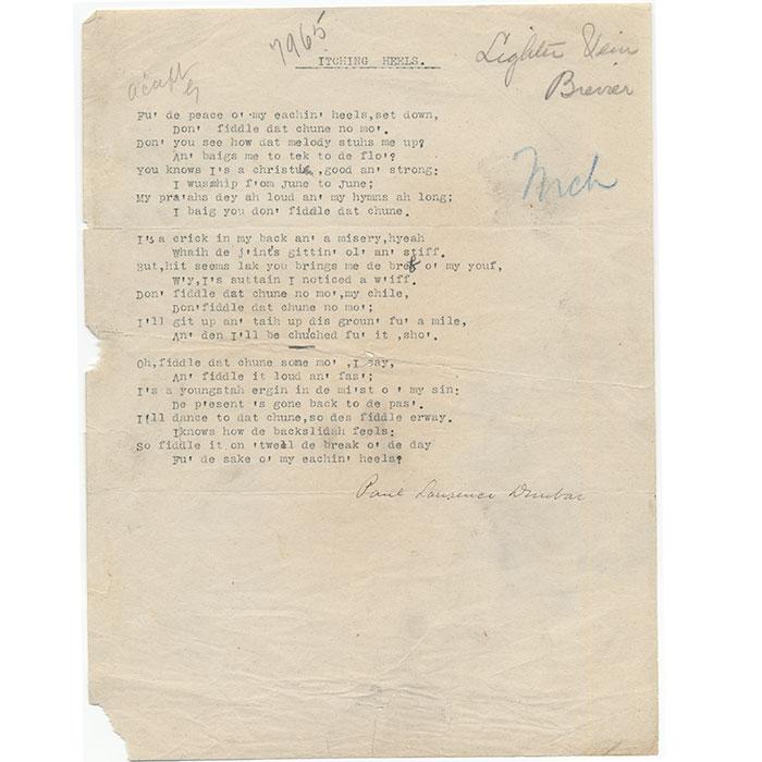 Typed Poem Signed