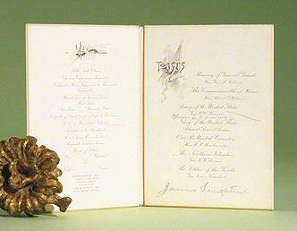 Program signed (Grant Memorial Banquet)