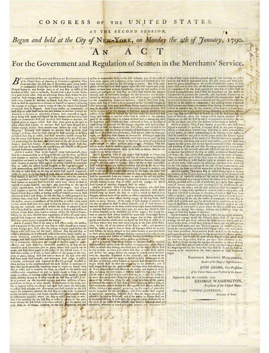 Original broadside 'seaman's contract'