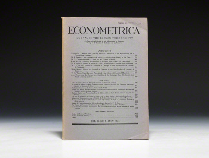 Existence of an Equilibrium for a Competitive Economy