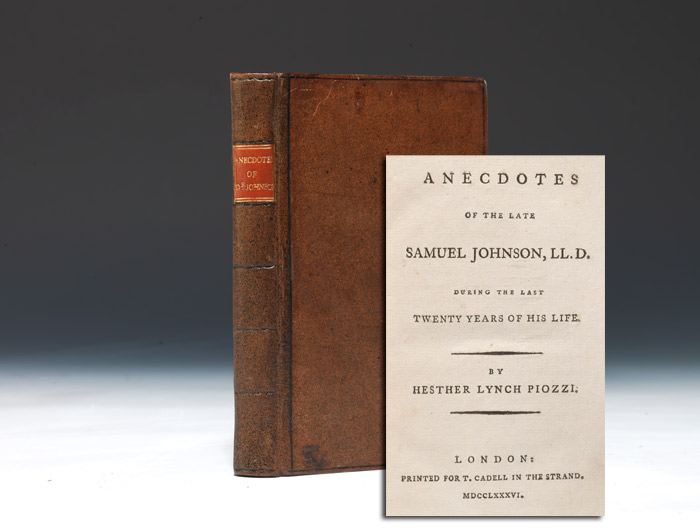 Anecdotes of the Late Samuel Johnson, LL.D.