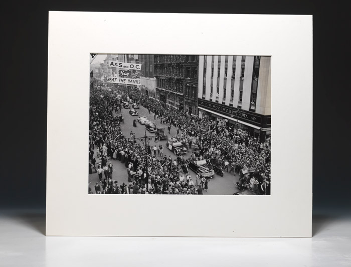 Photograph of the 1941 National League Pennant victory parade