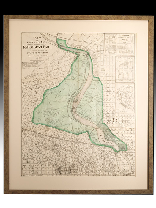 Maps of Farms and Lots Embraced within the limits of Fairmount Park